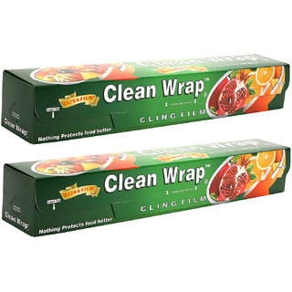 Buy Clean Wrap Cling Film Plastic Wrap 30 Mtr Pack Of 2
