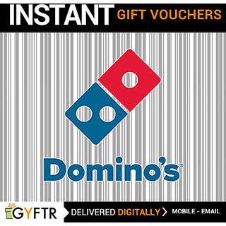 Dominos ( Online ) GyFTR Insta E-Voucher INR 100