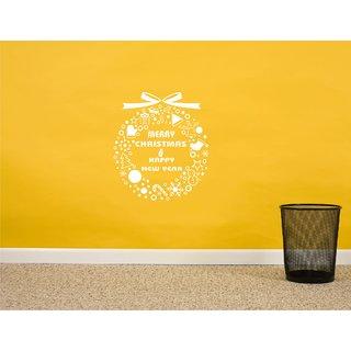 Merry Christmas White Wall Sticker