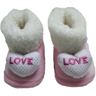 PINK BABY GIRL CUTE LOVE SHOES ( 4-12 months )