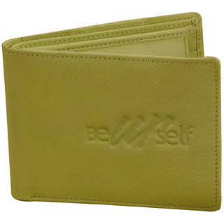 Ezeebags Beyourself Genuine Leather Coin Pocket Wallet Green
