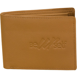 Ezeebags Beyourself Genuine Leather Coin Pocket Wallet Tan