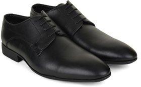 Ziraffe HOBART Black Leather Formal Shoes