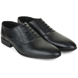 Ziraffe CARACAS Black Leather Formal Shoes