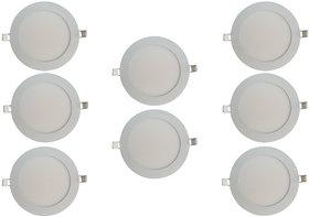Bene LED 6w Round Slim Panel Ceiling Light, Color of LED White (Pack of 8 Pcs)