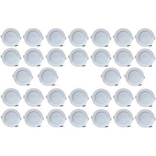 Bene LED 7w Blaze Round Ceiling Light, Color of LED Green (Pack of 32 Pcs)