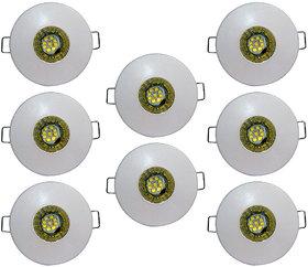 Bene LED 3w Glow Round Ceiling Light, Color of LED White (Pack of 8 Pcs)