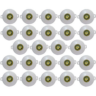Bene LED 3w Glow Round Ceiling Light, Color of LED Green (Pack of 24 Pcs)