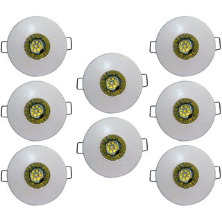 Bene LED 3w Glow Round Ceiling Light, Color of LED Warm White (Yellow) (Pack of 8 Pcs)