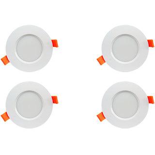 Bene LED 6w Farol Round Ceiling Light, Color of LED Red (Pack of 4 Pcs)
