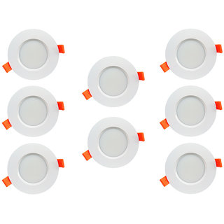 Bene LED 6w Farol Round Ceiling Light, Color of LED Red (Pack of 8 Pcs)