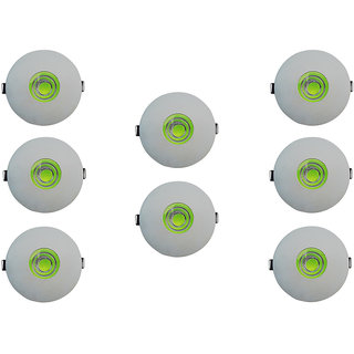 Bene LED 7w Glow Round Ceiling Light, Color of LED Green (Pack of 8 Pcs)