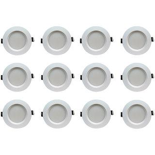 Bene LED 5w Faro Round Ceiling Light, Color of LED Green (Pack of 12 Pcs)