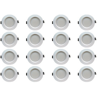 Bene LED 5w Faro Round Ceiling Light, Color of LED Green (Pack of 16 Pcs)