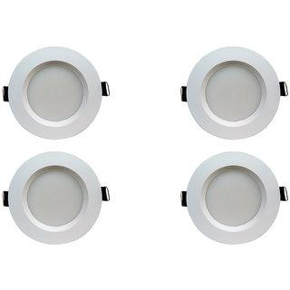 Bene LED 5w Faro Round Ceiling Light, Color of LED Green (Pack of 4 Pcs)
