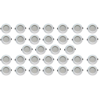 Bene LED 5w Faro Round Ceiling Light, Color of LED Red (Pack of 32 Pcs)