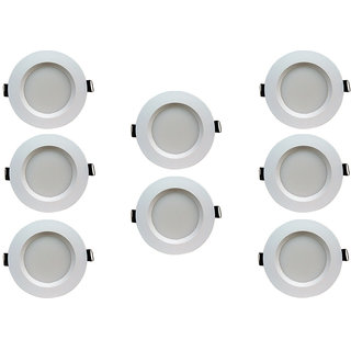 Bene LED 5w Faro Round Ceiling Light, Color of LED Red (Pack of 8 Pcs)