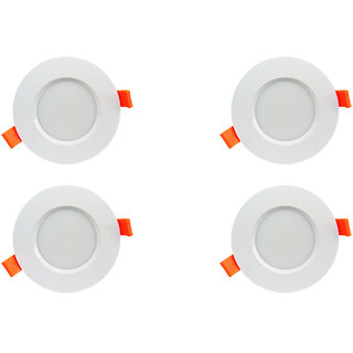 Bene LED 6w Farol Round Ceiling Light, Color of LED White (Pack of 4 Pcs)