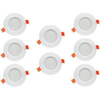 Bene LED 6w Farol Round Ceiling Light, Color of LED White (Pack of 8 Pcs)