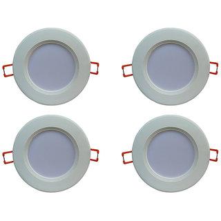 Bene LED 6w Lume Round Ceiling Light, Color of LED White (Pack of 4 Pcs)