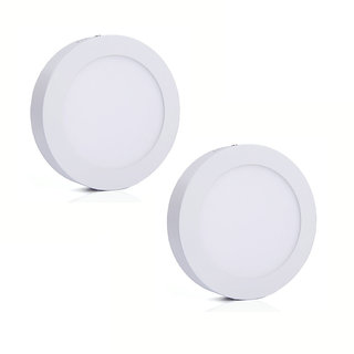 Bene LED 6w Round Surface Panel Ceiling Light, Color of LED Warm White (Yellow) (Pack of 2 Pcs)