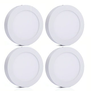 Bene LED 6w Round Surface Panel Ceiling Light, Color of LED Warm White (Yellow) (Pack of 4 Pcs)