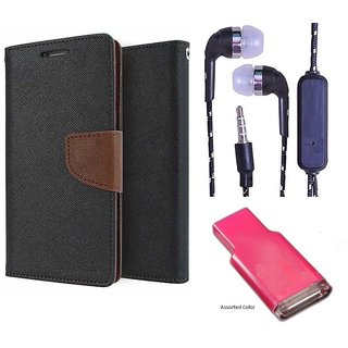 Micromax Canvas Juice 3 Q392  Credit Card Slots Mercury Diary Wallet Flip Cover Case