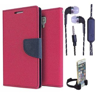 Reliance Lyf Flame 3  Credit Card Slots Mercury Diary Wallet Flip Cover Case