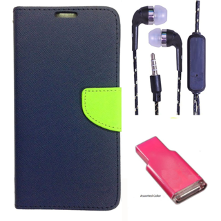 Micromax Canvas Selfie 3 Q348  Credit Card Slots Mercury Diary Wallet Flip Cover Case