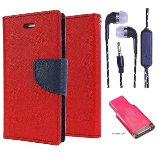 Reliance Lyf Water 1  Credit Card Slots Mercury Diary Wallet Flip Cover Case