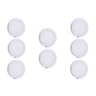 Bene LED 24w Round Surface Panel Ceiling Light, Color of LED White (Pack of 8 Pcs)
