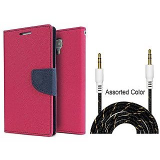 Micromax Canvas Spark Q380  Credit Card Slots Mercury Diary Wallet Flip Cover Case