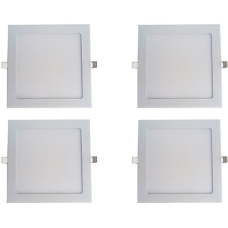 Bene LED 12w Square Slim Panel Ceiling Light, Color of LED White (Pack of 4 Pcs)
