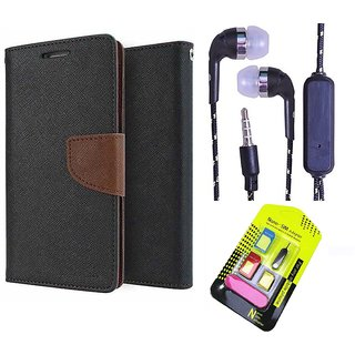 Moto G 3  Credit Card Slots Mercury Diary Wallet Flip Cover Case