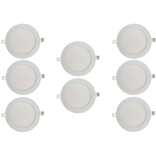 Bene LED 18w Round Slim Panel Ceiling Light, Color of LED Warm White (Yellow) (Pack of 8 Pcs)