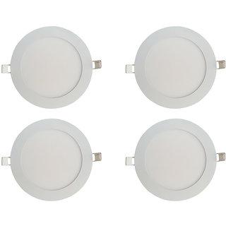 Bene LED 18w Round Slim Panel Ceiling Light, Color of LED White (Pack of 4 Pcs)