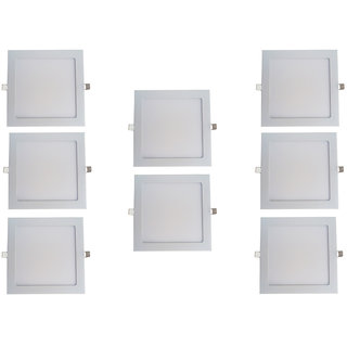 Bene LED 18w Square Slim Panel Ceiling Light, Color of LED Warm White (Yellow) (Pack of 8 Pcs)