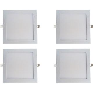 Bene LED 18w Square Slim Panel Ceiling Light, Color of LED White (Pack of 4 Pcs)