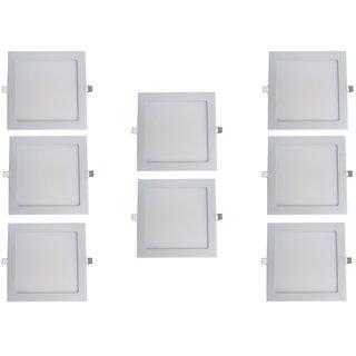Bene LED 18w Square Slim Panel Ceiling Light, Color of LED White (Pack of 8 Pcs)