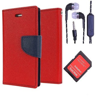 Micromax A104 Canvas Fire 2  Credit Card Slots Mercury Diary Wallet Flip Cover Case