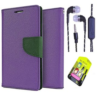 Reliance Lyf Wind 5  Credit Card Slots Mercury Diary Wallet Flip Cover Case