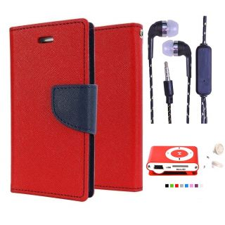 Micromax Canvas HD A116  NEW FANCY DIARY FLIP CASE BACK COVER