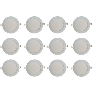Bene LED 6w Round Slim Panel Ceiling Light, Color of LED White (Pack of 12 Pcs)