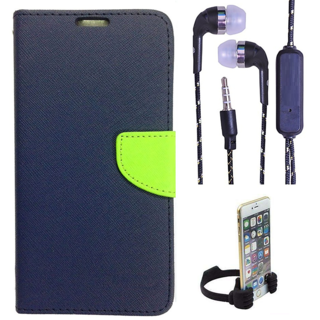 Micromax A106 Unite 2  NEW FANCY DIARY FLIP CASE BACK COVER