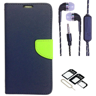 Micromax Canvas Spark Q380  NEW FANCY DIARY FLIP CASE BACK COVER