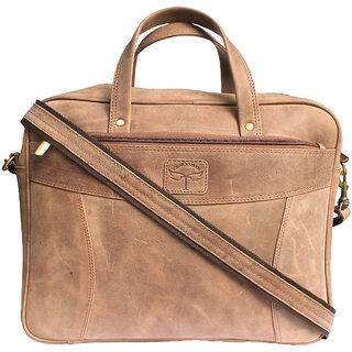 Tamanna 15 inch Laptop Messenger Bag  Tan