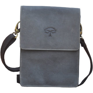Tamanna Men  Women Black Genuine Leather Sling Bag