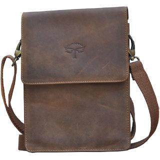 Buy Tamanna Men Women Brown Genuine Leather Sling Bag Online - Get 40% Off 4e1e95a95428a
