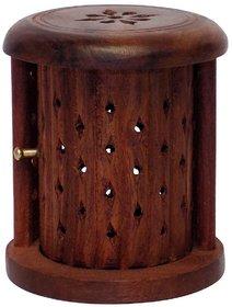 Shutter Wooden Cone (Dhoop) Incense Holder
