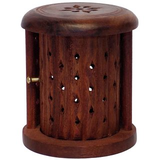 Shutter Wooden Cone (Dhoop) Incense Holder